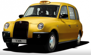 Yellow Hackney Carriage
